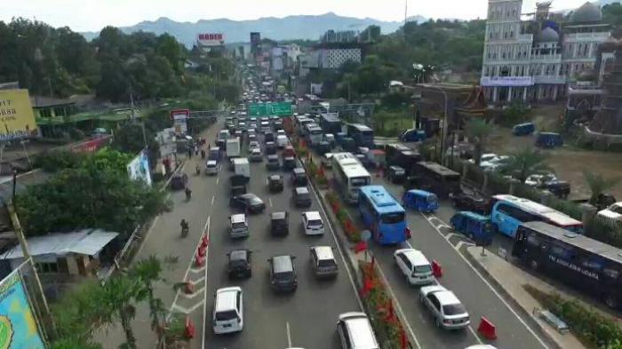 Ilustrasi ruas jalan di Bogor yang dalam pemberlakuan sistem ganjil-genap.