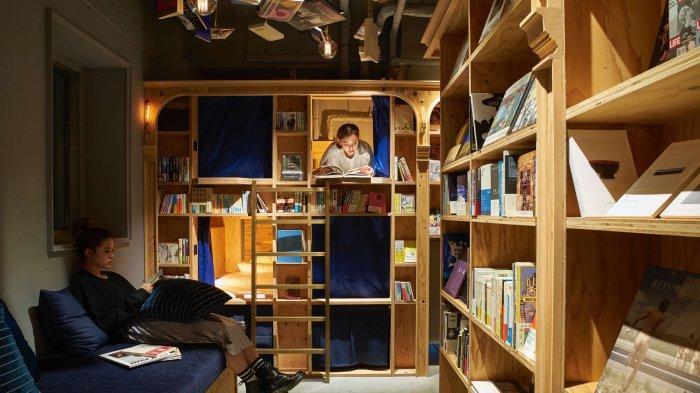 3 Hotel Paling Unik di Osaka Jepang, Book and Bed Tokyo Shinsaibashi Cocok untuk Pecinta Buku