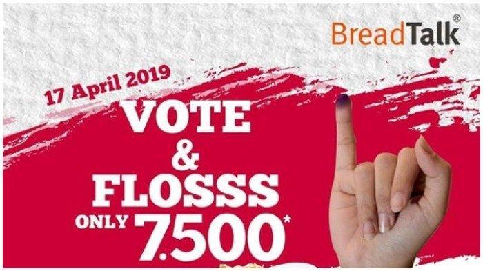 Promo Breadtalk April 2019, Dapatkan Harga Spesial Rp 7.500 dengan Menunjukkan Tinta Ungu di Jari
