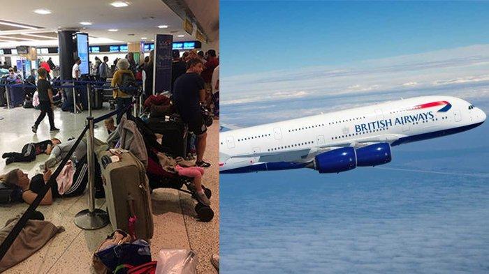 Penumpang British Airways 2 Hari Terlantar di Bandara: Penyintas Kanker Tidur di Lantai Bandara