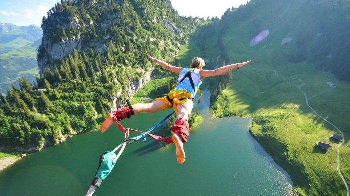 Bungee jumping.