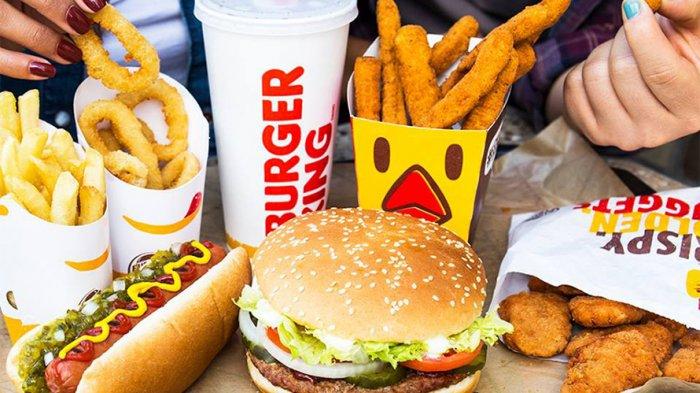 Ilustrasi menu di Burger King