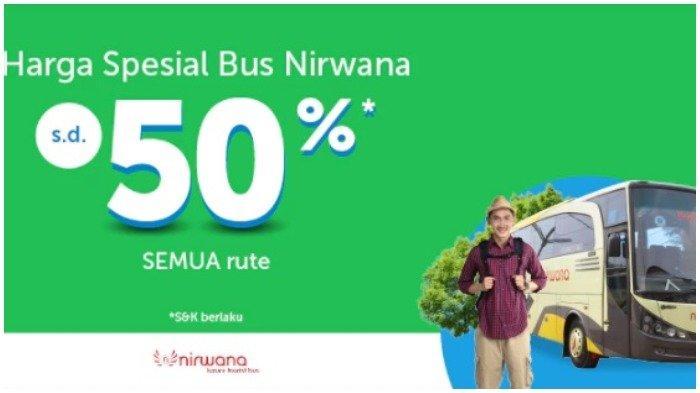 Bus Nirwana Beri Diskon Mudik Lebaran hingga 50 Persen Melalui Traveloka