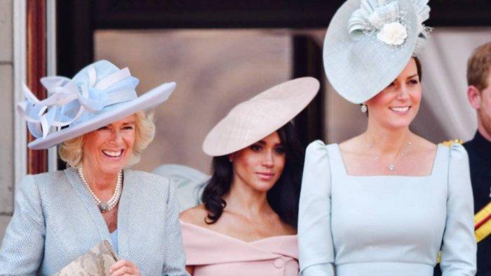 Camilla dengan Kate Middleton dan Meghan Markle