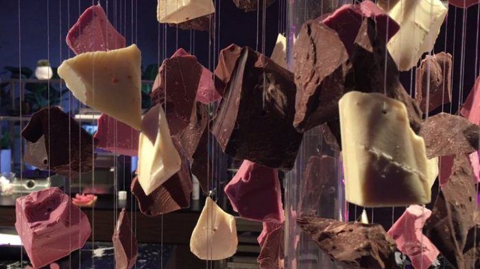 Ilustrasi chocolate untuk hari kasih sayang 14 Februari