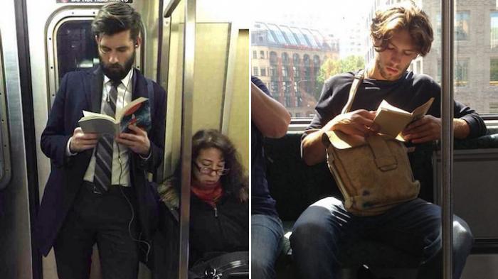 cowok ganteng baca buku