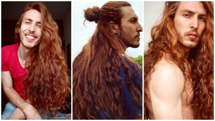 Pria Ini Dijuluki 'Rapunzel' Karena Miliki Rambut Indah Seperti Perempuan