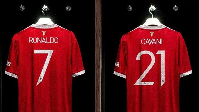 Cristiano Ronaldo mewarisi nomor punggung 7 dari Edinson Cavani yang kini memakai nomor punggung 21.
