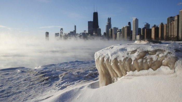 Polar Vortex Landa Amerika Serikat, Temperatur Udara Lebih Dingin Daripada Antartika