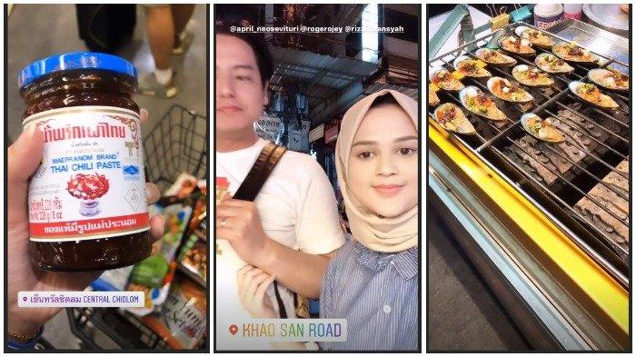 Liburan Artis - Hari Terakhir Liburan di Bangkok, Cut Meyriska dan Roger Asyik Jajan Street Food