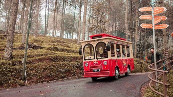 Kereta wisata di Dago Dream Park Bandung