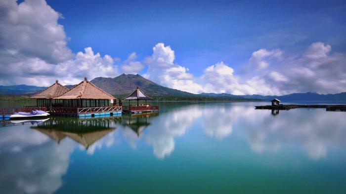 Danau Batur di Kintamani, Kabupaten Bangli, Bali
