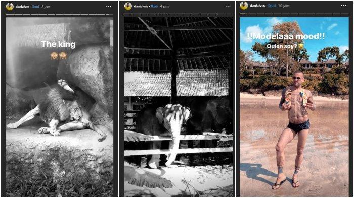 Potret Dani Alves Liburan ke Kebun Binatang di Bali Bersama Istri