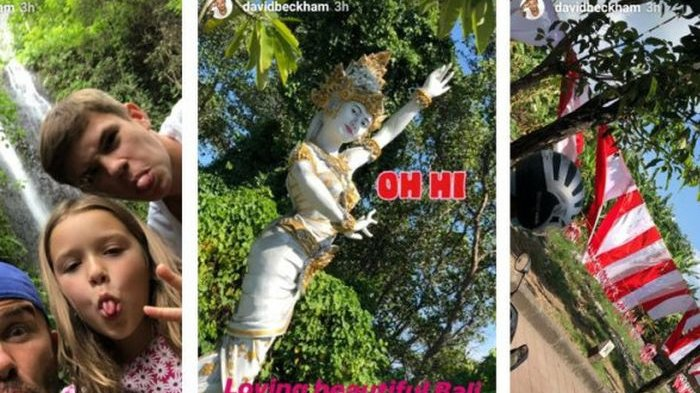 David Beckham dan Keluarganya Liburan di Bali, Begini Tanggapan Mereka Saat Diguncang Gempa Lombok