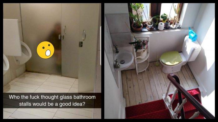 10 Potret Ruang Toilet Gagal Desain, Mending Cari Kamar Mandi yang Lain Saja!