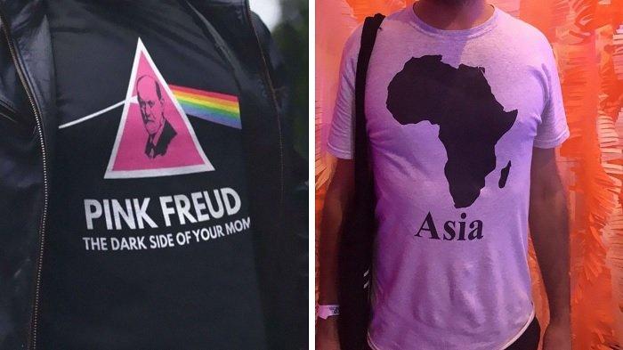 10 Potret Lucu Desain Tulisan Pakaian di Tiongkok Ini Siap Buat Turis yang Lihat Tertawa