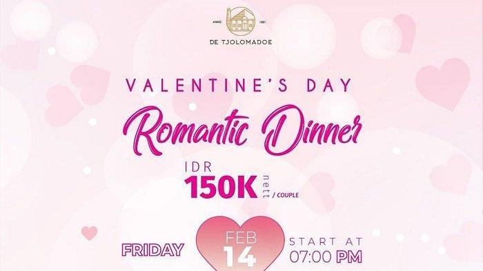 De Tjolomadoe Tawarkan Dinner Romantis Bareng Pasangan Saat Valentine, Cuma Rp 150 Ribu