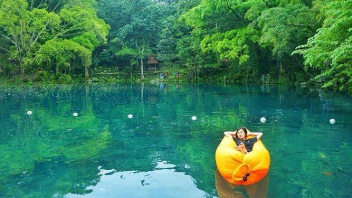 Eksotisme Telaga Biru Cicerem, 'Blue Lake' dari Kuningan Jawa Barat