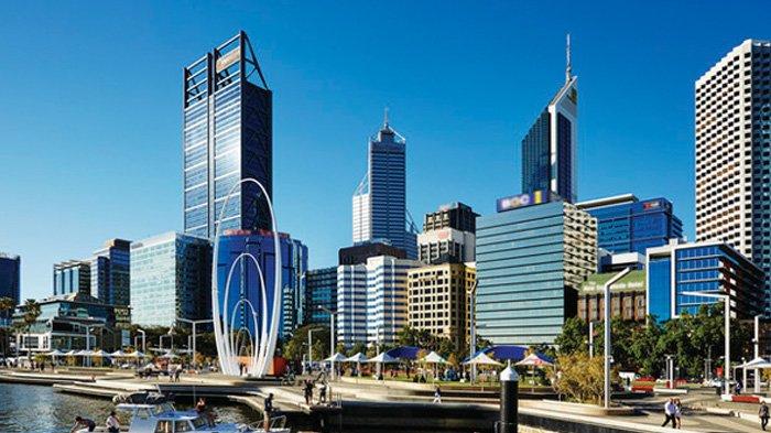 Elizabeth Quay, Perth, Australia Barat