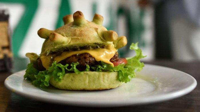 Koki di Vietnam Bikin Burger Warna Hijau dengan Bentuk Virus Corona