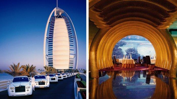 Fakta Unik 'Hotel Bintang Tujuh' Burj Al Arab Dubai, Dibuat di Atas Pulau Buatan & Bertabur Emas