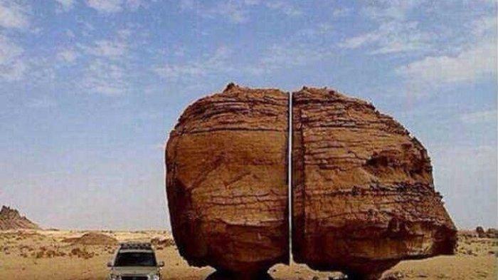 13 Keajaiban Geologi Alam Terbentuk Secara Alami, Ada Fenomena Batu Terbelah Hingga Gunung Pelangi