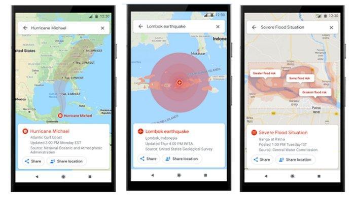 Fitur Baru Google Maps akan Tampilkan Informasi Badai, Banjir dan Gempa Bumi