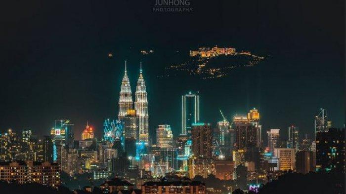 Potret Malam Kuala Lumpur Berlatar Tanah Tinggi Genting Viral di Medsos