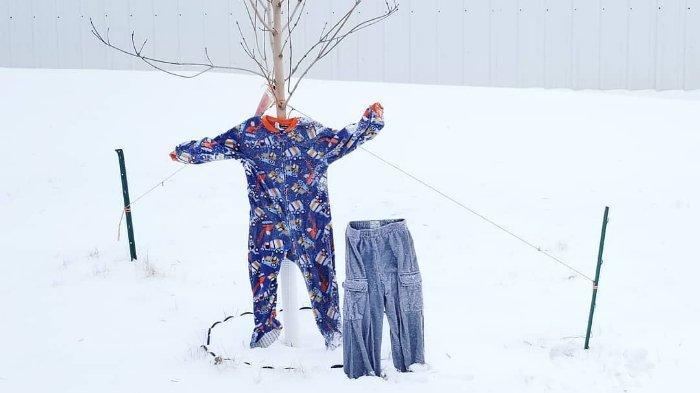 Hadapi Suhu Ekstrim, Warga yang Terdampak Polar Vortex ini Adakan 'Frozen Pants Challenge'