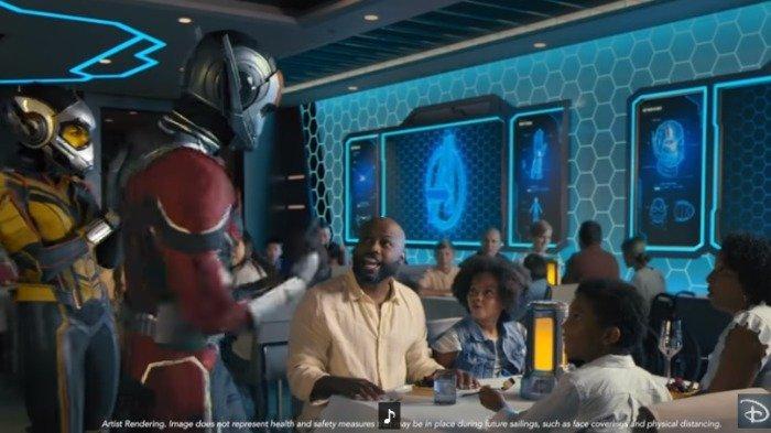 Gambaran karakter Marvel yang hadir di kapal pesiar Disney