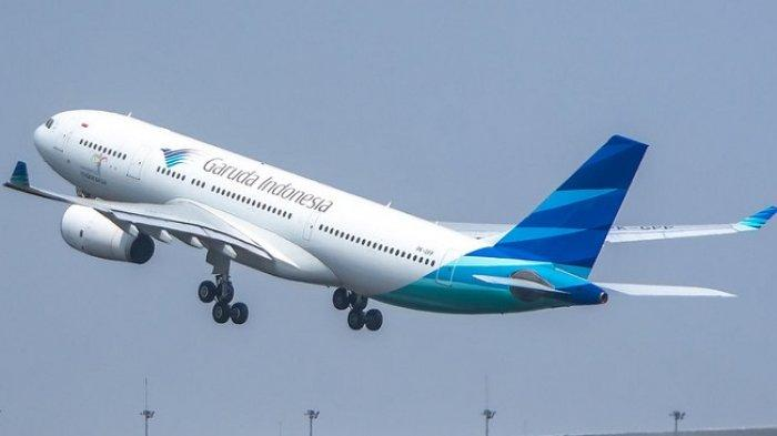 Ilustrasi maskapai Garuda Indonesia.