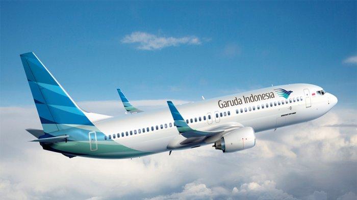 Ilustrasi maskapai penerbangan Garuda Indonesia.