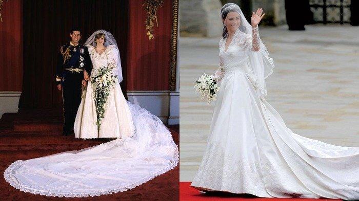 Perbandingan 4 Gaun Pengantin Yang Dipakai Putri Kerajaan Inggris