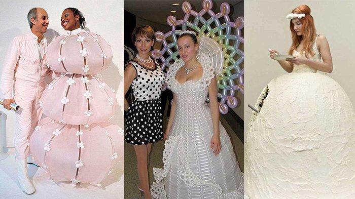 15 Gaun Pengantin Paling Aneh Yang Bikin Mempelai Harus Tahan Malu