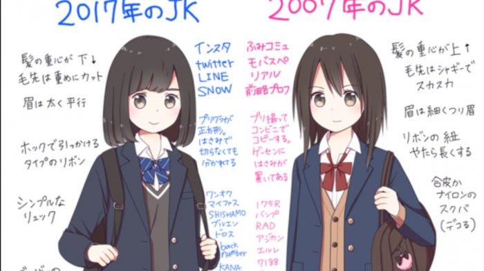 Beda Drastis Begini Perbandingan Tren Gadis Sma Jepang Tahun 2007