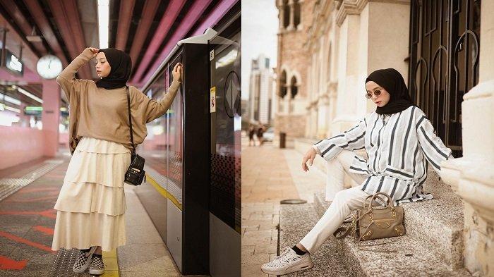4 Gaya Hijab Simpel Ala Selebgram Hijab Kekinian Yang Bisa Kamu Tiru Cocok Untuk Traveling Halaman All Tribun Travel