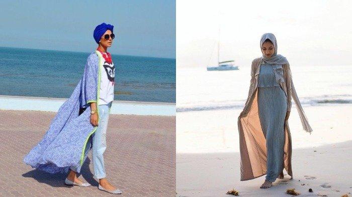 5 Referensi Fashion Hijab Yang Bisa Digunakan Saat Ke Pantai Tampil Modis Dan Stylist Ala Selebgram Tribun Travel