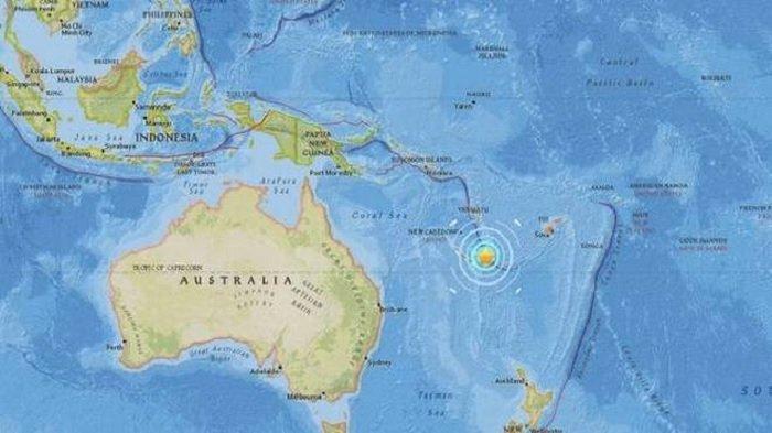 Gempa 7,5 SR Guncang Kaledonia Baru, Picu Peringatan Tsunami tetapi Tidak Ada Kerusakan