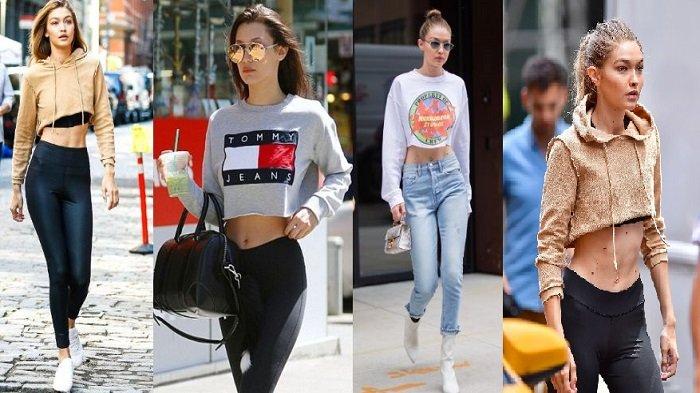 Tampil Stylish Ala Gigi Hadid dengan Cropped Sweatshirt, Harga di Bawah Rp 400 Ribu