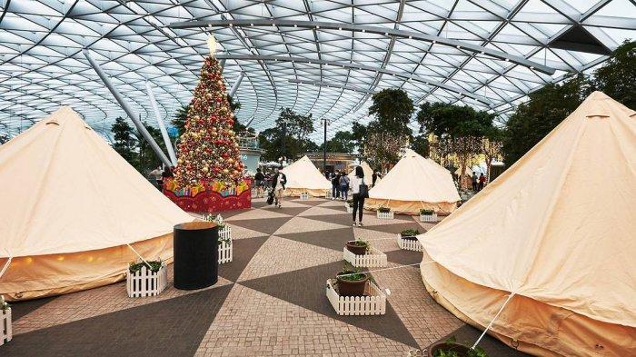Bandara Changi Singapura Sediakan Fasilitas Tenda Glamping, Tarif Per Malam Rp 3,8 Juta