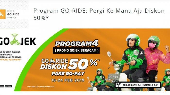 Promo GO-JEK Beragam - Pergi Pakai GO-RIDE Dapat Diskon 50%, Syaratnya Harus Pakai GO-PAY