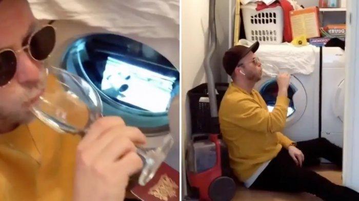 Bosan di Rumah, Pria Ini Ciptakan Suasana Penerbangan Kelas Satu Menggunakan Mesin Cuci