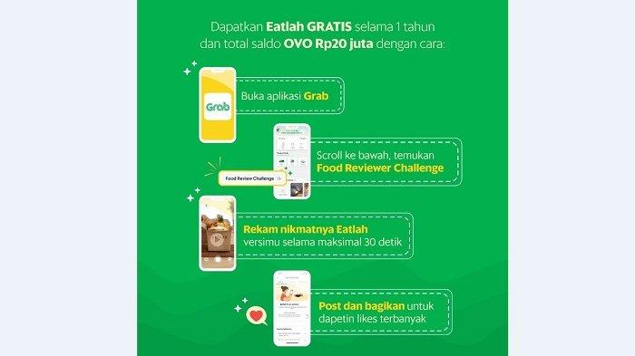 Grab adakan kontes video Food Reviewer