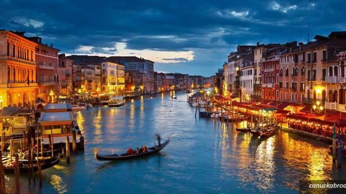 Ilustrasi Grand Canal, Venice, Italy
