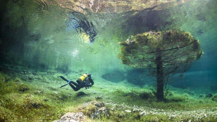 Green Lake, Taman di Austria yang Berubah Menjadi Danau Sedalam 10 Meter Saat Musim Semi