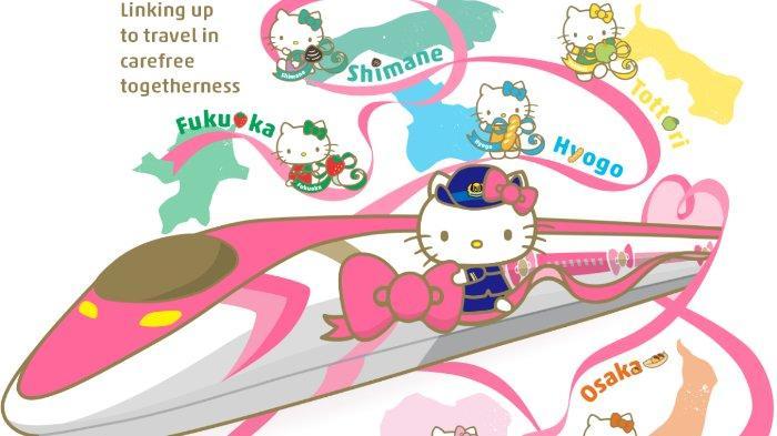 Haruka Shinkansen, Kereta Cepat Bertema Hello Kitty Sudah Diluncurkan, Lihat Desain Lucunya