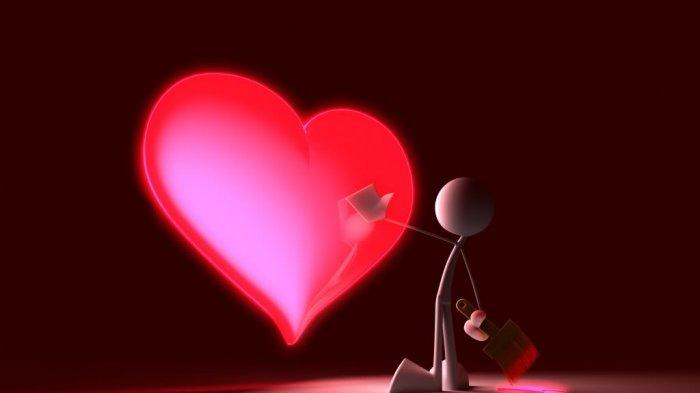 Penggunaan simbol hati di Hari Valentine