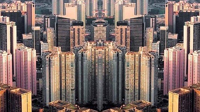 Hongkong dengan gedung pencakar langit
