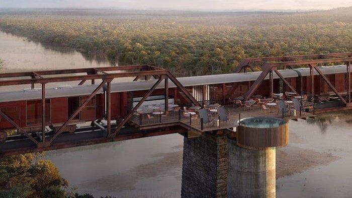 Unik, Hotel Mewah Ini Terbuat dari Gerbong Kereta Kuno yang Berada di Atas Jembatan