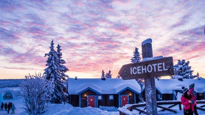 Keren! Hotel Ini Dibangun dari Es, Makin Nyata Seperti dalam Film Frozen